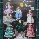"6 Crochet Patterns Victorian Missy 13"" Porcelain Look Dolls Dresses"