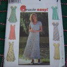 New Misses 12 14 16 Sewing Patterns Flared Pullover Summer Dresses Sheer Over Dress Bias 7964