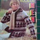 1 Cent USA S&H 1970's Men's Bucilla Knitting Patterns Winter Sweaters Cardigans Pullovers