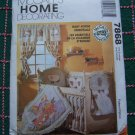 McCall's Home Baby Room Sewing Patterns 7868 Infant Nursery Accessories