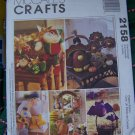 McCall's 2158 Seasonal Decorations Sewing Patterns Elves Turkey Storks Bats Bees Butterfly