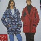 Misses XS S M L XL Sewing Pattern Shawl Collar Coat Jacket Fleece Fabric 8467