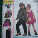 Girls 4 5 6 Winter Wardrobe Sewing Pattern 9533 A Line Jumper Dress Jacket Pants Hat Uncut