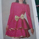 Girls 12 14 Vintage Sewing Pattern Dress Asymmetrical Ruffle or Straight Skirt 5127