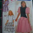 Uncut Girls 12 14 Sewing Pattern 4530 Dress Dropped Waist Flared SKirt or Ruffles