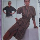 $1 S&H USA Vintage Sewing Pattern Pullover Slit Front Dress Tunic Top Bust 34 M8238