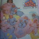 Bobbie's Babies Sewing Pattern Infant NB S M L Coat Pants Hat Diaper Bag Blanket 8443