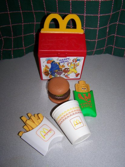 Fisher Price Toy Food : Vintage fisher price mcdonald s happy meal box pretend
