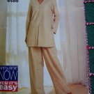 Misses 12 14 16 Sewing Pattern Dressy Loose Tunic Top Straight Leg Elastic Waist Pants 4486