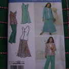 Khaliah Ali Sewing Pattern 3805 Womens Pants Skirt Dress Sleeveless Tunic Top Jacket 10 - 18