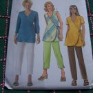 Misses Sewing Pattern 8 10 12 14 Wrap Tunic Top Short Long Sleeve Elastic Waist Pants Capri B4553