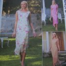 Misses Easy Dress Sewing Pattern 10 12 14 16 Scoop Neck Pointed Ankle Hem Contrast Overdress 4372