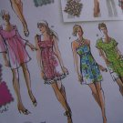 Jr Plus Size Sewing Pattern 3807 Mini Dress Tunic Top Design Studio Jrs 15/16 - 25/26