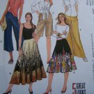 5 Misses Flared Half or Full Circle Skirts Shorts Gaucho Sewing Patterns  M5111