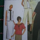 1 Cent S&H US Misses 12 14 16 Sewing Pattern 3851 Vest Top Tunic 3 SKirts Pants