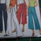 Misses Sewing Pattern 8 10 12 14 Pants & Belt Sash Flare Leg Various Lengths 4995