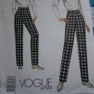 Uncut Misses 14 Vogue Slim Tapered Pants Fitting Shell Sewing Pattern 1003 Waist 28 Hip 38