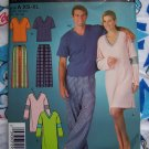 Flannel Pants Knit Nightshirts Lounge Wear Mens Misses Jrs Teen XS S M L XL Sewing Pattern 4060 3638