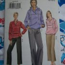 Uncut Vogue Sewing Pattern Womens Straight Skirt & Pants Shirt Hoodie or Collar 7946