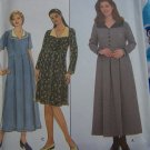 Womens Plus Size Dress Sewing Pattern 8264 Full Skirt Pleated to Bodice 18W 20W 22W 24W