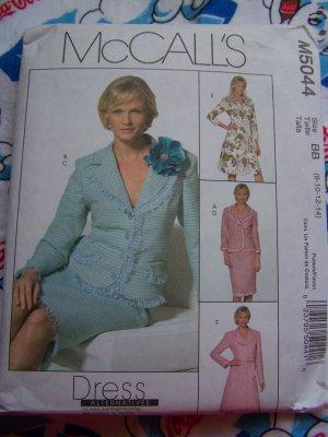 1 Penny S&H USA Sewing Pattern Dress Alternatives Suit Set 8 10 12 14 M 5044