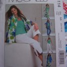 Misses 6 8 10 12 Sewing Pattern Non Stop Wardrobe Shirt Jacket Top Skirt Pants McCall's 5114