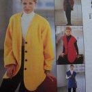 1 Cent USA S&H McCall's Sewing Pattern Misses 12 14 16 3 Hour Fleece Jacket Vest Pants Set 9565