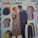 Unisex Adult Winter Pajamas Sewing Pattern Gown Nightshirt Top Pull on Pants Shorts S M L 2477