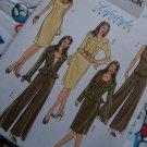 USA Free S&H Misses Sewing Pattern 4870 Ruffled Peplum Jacket Top Dress Pants 8 10 12 14