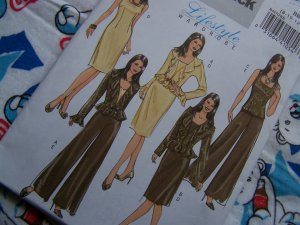 USA Free S&H Misses Sewing Pattern 4870 Ruffled Peplum Jacket Top Dress Pants 8 10 12 14