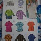9 Misses Tops Sewing Patterns 8 10 12 Long Short 3/4 Sleeves Button Up Slit Hem Shirts 3523