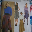 Misses 12 14 16 Skirt Sewing Patterns Bias Flared Shaped Hem Flounce Overlay 3971