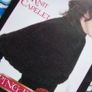 Free S&H USA Bernat Misses Knit Capelet Short Cape Knitting Pattern