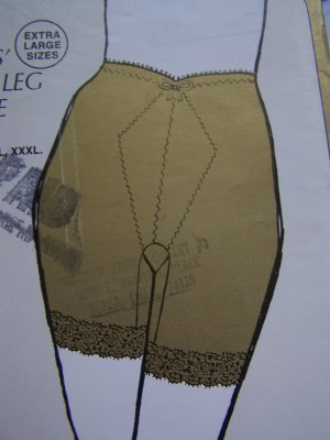 Sew Lovely Sewing Pattern Womens Plus Size Long Leg Girdle Lingerie XL XXL XXXL