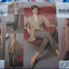 Free USA S&H New Vogue Sewing Pattern 2686 Unlined Jacket Tapered Dress & Pants Suit Set 6 8 10