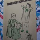 40's Vintage Sewing Pattern Boy's Infant Pajamas Gown Nightshirt Uncut Butterick 3666