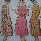 Vintage 60's Mod Sewing Pattern 7188 Two Juniors Dresses 9 10 11 Uncut