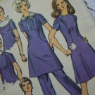 70's VIntage Reg & Mini Dress Detachable Collars Shaped Seams Sewing Pattern 9076