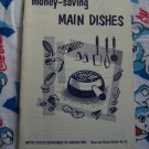 Free Shipping USA  Vintage 60's Money Saving Main Dish Recipes Cookbook US Dept Agriculture