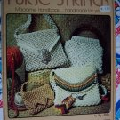 Free USA S&H Vintage 70's Macrame Patterns Purse Strings 15  Handbags