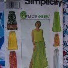 FREE USA S&H Misses Skirts & Pants Sewing Patterns Elastic & Drawstring Waist XS S M 7513