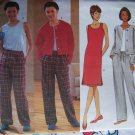 Free Shipping Butterick 6354 Jacket Tank Top Dress Elastic Waist Pants 12 14 16