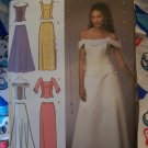 Jessica McClintock Sewing Pattern 2 Piece Evening  Dress Skirt Top 8 10 12 14