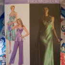 Jessica Simplicity 4481 Sewing Pattern Bias Halter Evening Gown Tunic Top  Pants 6 8 10 12