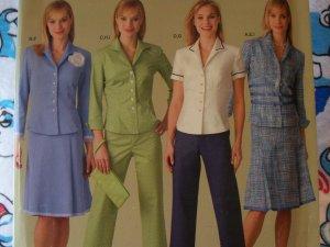 0 USA S&H Simplicity Threads Sewing Pattern 4637 Pants Skirt Blazer Jacket Purse 6 8 10 12