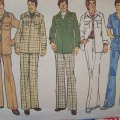 Men's Vintage Uncut Sewing Pattern Shirt Jacket & Pants Leisure Suit 7314 Sz 38 40