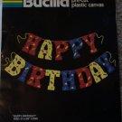 Bucilla Plastic Canvas Pattern HAPPY BIRTHDAY Party Banner 5.5 Tall x 56 Long