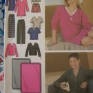 Easy Unisex XS S M Pajama Lounge Wear Sewing Pattern Pants Shorts Nightshirt Top Blanket 4957