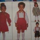 Uncut 1 2 3 Toddler Bryan Sewing Pattern Girls Christmas Dress Boys SHorts Shirt Bow Tie 3705