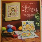 1976 1977 Vintage Calendar of Needlepoint Designs Chart Patterns